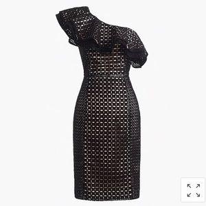 Jcrew Collection one shoulder dress in eyelet